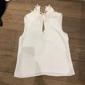 Zara top size S with neck detail lace